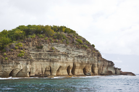 The Pillars Of Hercules in Antigua, below the waterline is a famous diving and snorkelling spot.