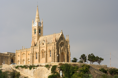 The church Our Lady of Lourdes in Mgarr, Gozo.