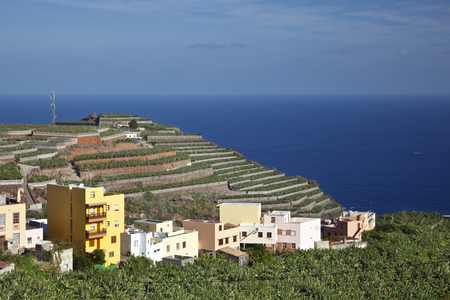 Villages next to plantations in the north of La Palma, Spain.