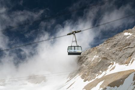 GARMISCH - JULY 04: The German Zugspitze Cable Car on the Zugspitze, Germany on July 04, 2016. Editorial