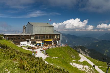 Mountain station of the Alpspitzbahn Cable Car, Restaurant Alpspitz on the Osterfelder Kopf, Germany.