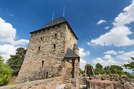 NIDEGGEN - AUGUST 14: The residence tower of the castle Burg Nideggen in the Eifel, Germany on August 14, 2016. Editorial
