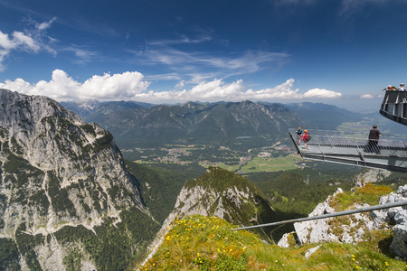 GARMISCH - JULY 07: Alpspix Observation Platform on the Osterfelder Kopf in Garmisch-Partenkirchen, Germany on July 07, 2016. Editorial