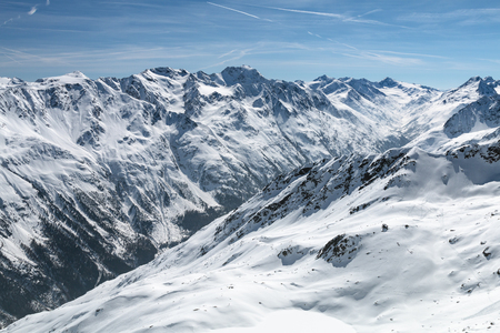 View from the Gaislachkogel in the Oetztal, Austria to the Venter valley.