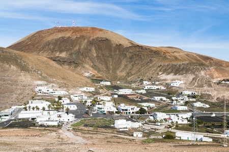 View in Femes in Lanzarote, Spain with the Atalaya de Femes. Stock fotó