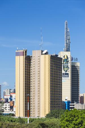 Nairobi, Kenya - December 24: The Teleposta Tower behind Uhuru Park in Nairobi, Kenya on December 24, 2015