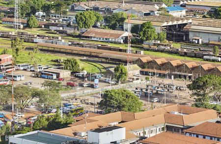Nairobi, Kenya - December 23: View to the Nairobi Railway Station, Kenya on December 23, 2015