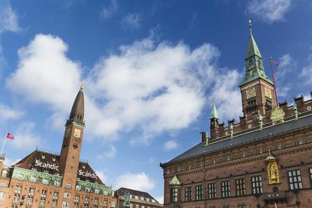 COPENHAGEN - OCTOBER 23: Scandic Palace Hotel and City Hall of Copenhagen in Denmark on October 23, 2015