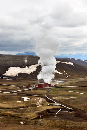 A geothermal power station in Krafla, Iceland.