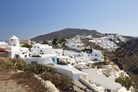 View of the village Oia in Santorini, Greece.
