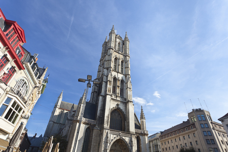 The famous cathedral in Ghent, Belgium.
