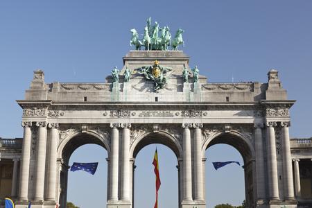Arc de Triomphe in Brussels, Belgium in summer.