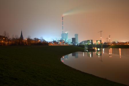 A coal mine and power station near Duisburg, Germany. Stok Fotoğraf