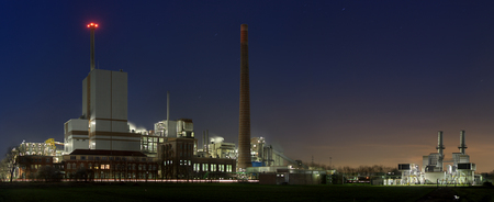 Panoramic view of a chemical plant near Rheinberg, Germany.
