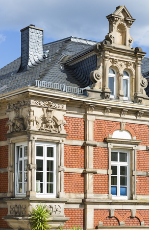 An old mansion in Neustadt an der Weinstrasse, Germany functioning as a restaurant today. Banque d'images