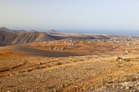 View from the Cerro de Temejereque during the evening, Fuerteventura.