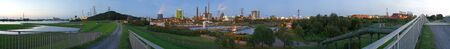 About 300 degree round view of industrial buildings  , Germany. Stockfoto