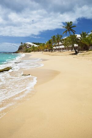 Curtain Bluff Beach in Antigua, one of the few non white beaches there but still beautiful.