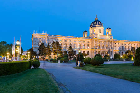 The Kunsthistorisches Museum (Museum of Fine Arts) in Vienna, Austria at night. Standard-Bild - 149318846
