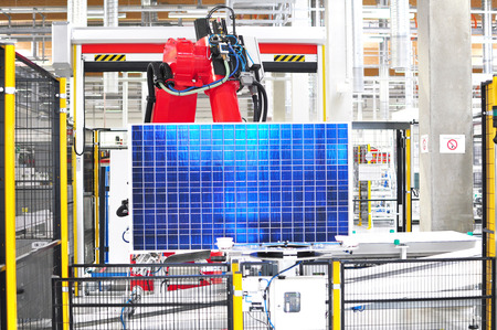 solar panel factory automation-high tech factory - production of solar cells - machinery and interiors
