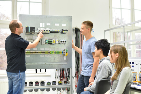 technical vocational training in industry: young apprentices and trainers in the classroom