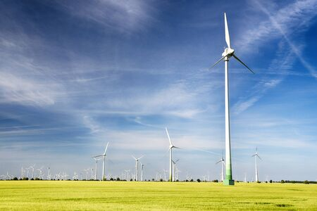 Renewable energies - power generation with wind turbines in a wind farm Editorial