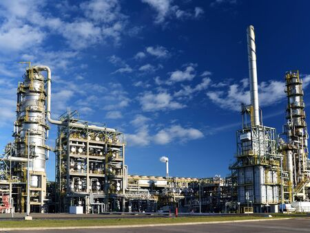 Refinery for the production of fuel - architecture and buildings of an industrial complex