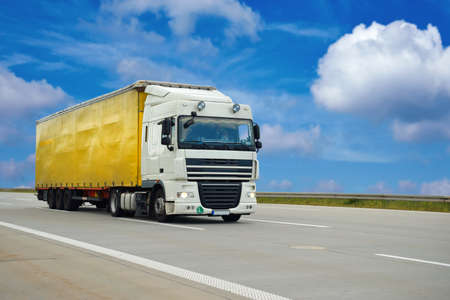 Road transport of goods by lorries - trade and transport