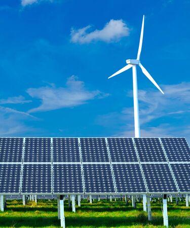 renewable energy generation - wind turbines and solar plants