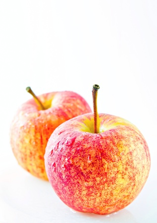 closeup Red apple on  white background Stock Photo - 16420727