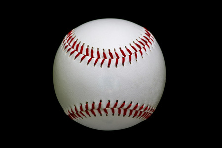 Game Used White Baseball