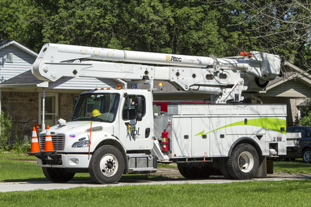scrambling: Severe storms rolled through Indiana on July 13th during the night and downed several power lines . Power companies were scrambling in the morning trying to return service to several thousand customers. Editorial
