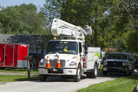 high winds: Electric companies scramble to return electric service as severe storms rolled through the midwest states on July 13th.