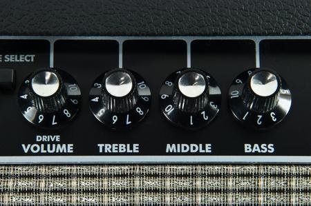 amp: Guitar amplifier control panel