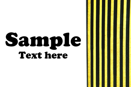 Black and yellow strips on white background Stock Photo