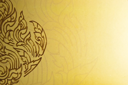 wall mural: vintage traditional thai line art Stock Photo