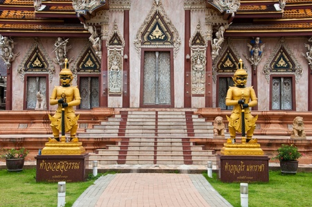 Thai demons guardian in temple Stock Photo