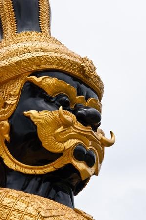 budha: Close-up Thai demon guardian in temple