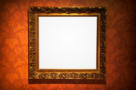 picture frame on wall: Classical frame on vintage background Stock Photo