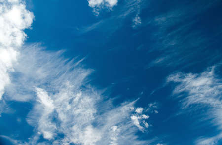 cirrus: Blue sky with clouds.