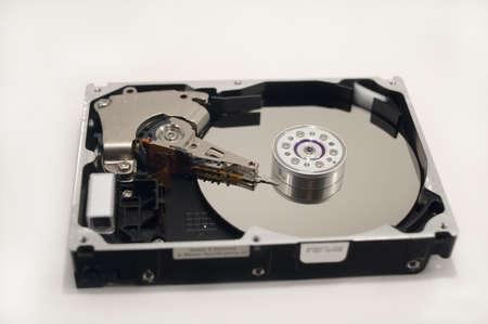 hard: A disassembled hard drive.