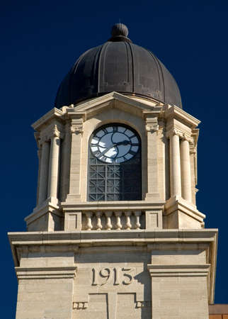 1913 Lethbridge post office clock tower - made from limestone.