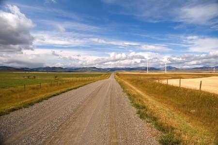 Zicht op de Rocky Mountains van de zuidelijke Alberta.