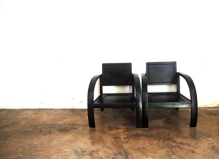 chairs: Black chairs Stock Photo