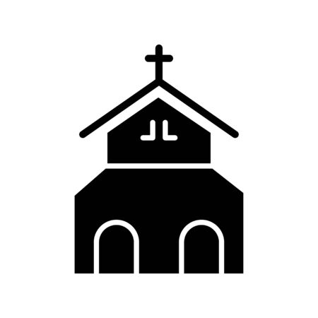 Church building icon vector design template on white background