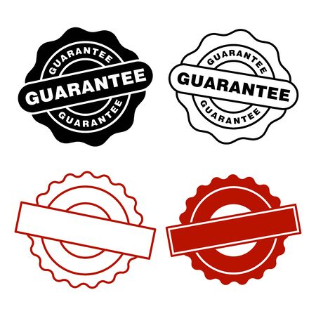 Guarantee rubber stamp icon vector design templates on white background