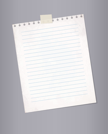 lined paper: Blank lined paper from a notepad.