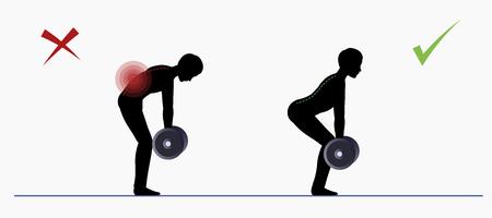 Sport exercise. Physical training Deadlift