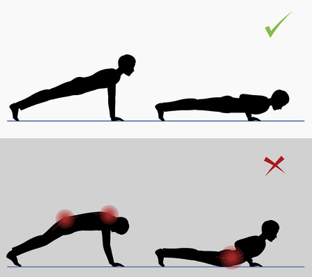 Sport exercise. Physical training full push ups