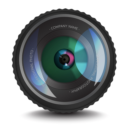 A Photo lens icon with an optical flare